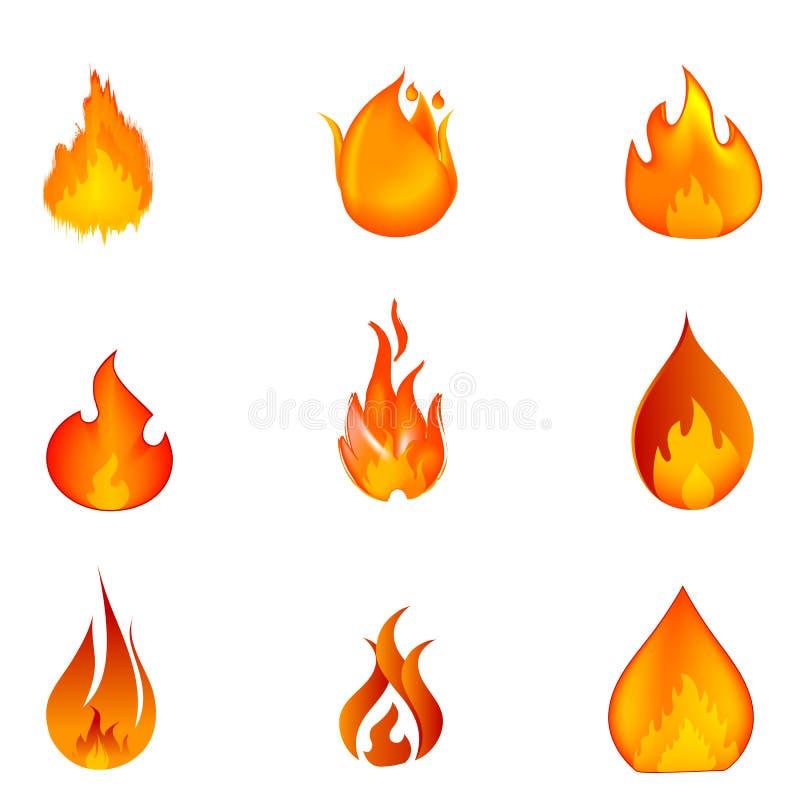 Formes d'incendie illustration stock