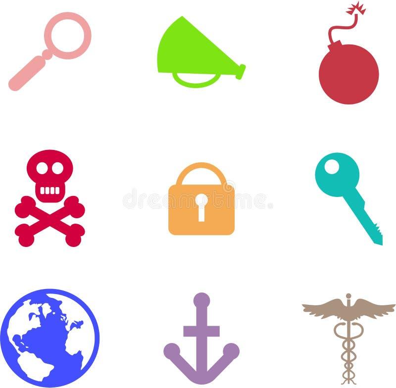 Formes d'objet illustration stock