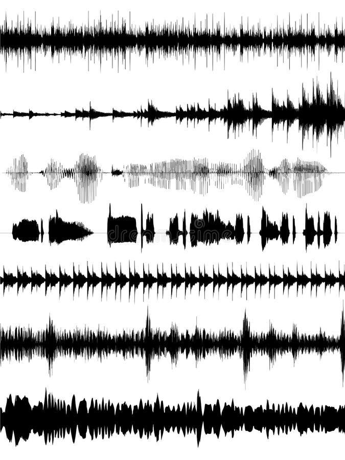 Formes d'onde sonore illustration libre de droits