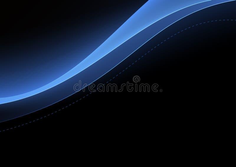 Formes de bleu de vague images libres de droits