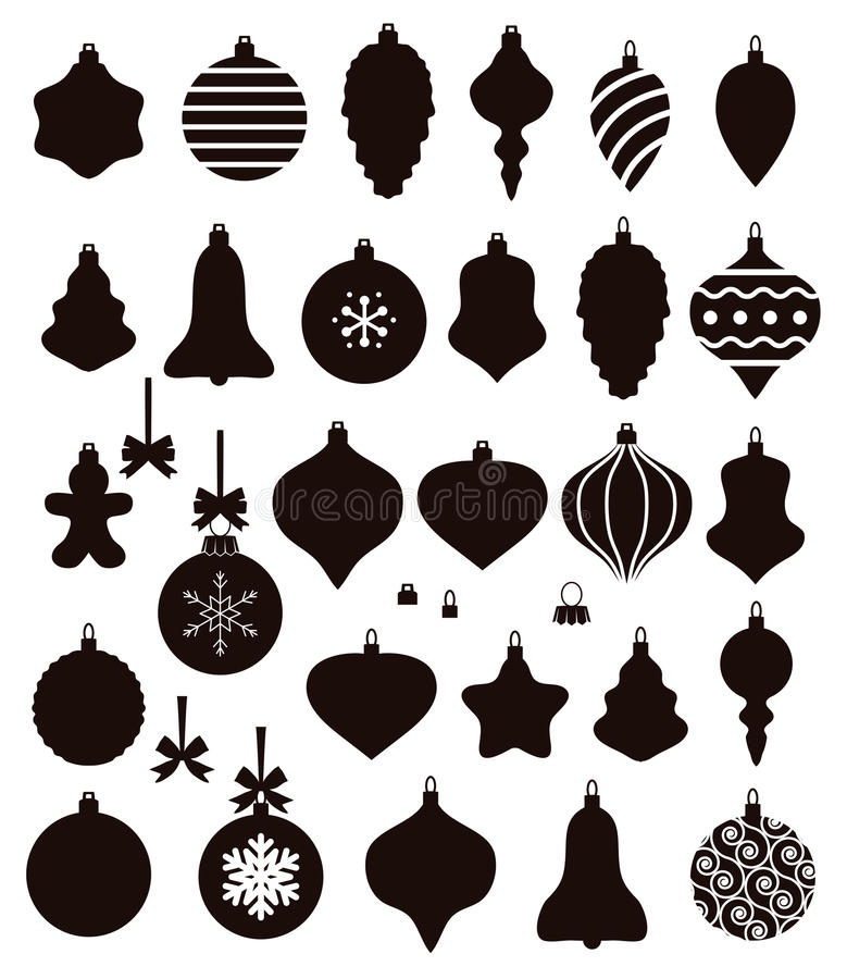 Formes de boule de Noël illustration libre de droits