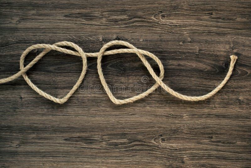 Formes de corde de coeur photo libre de droits