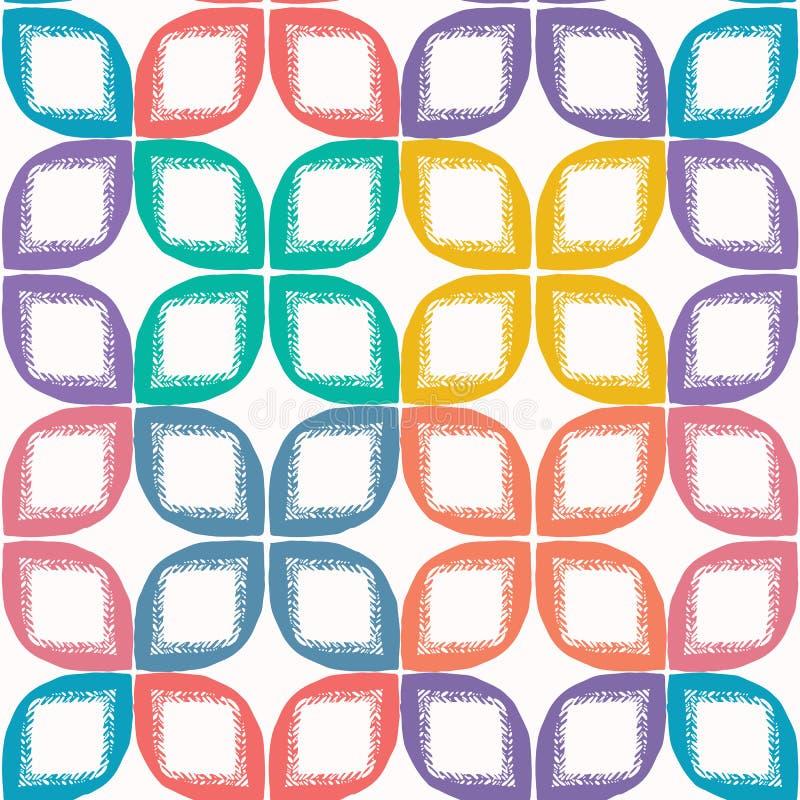 Formes de feuille coupées abstraites Fond sans couture de mod?le de vecteur Style tiré par la main de matisse Illustration géomét illustration libre de droits