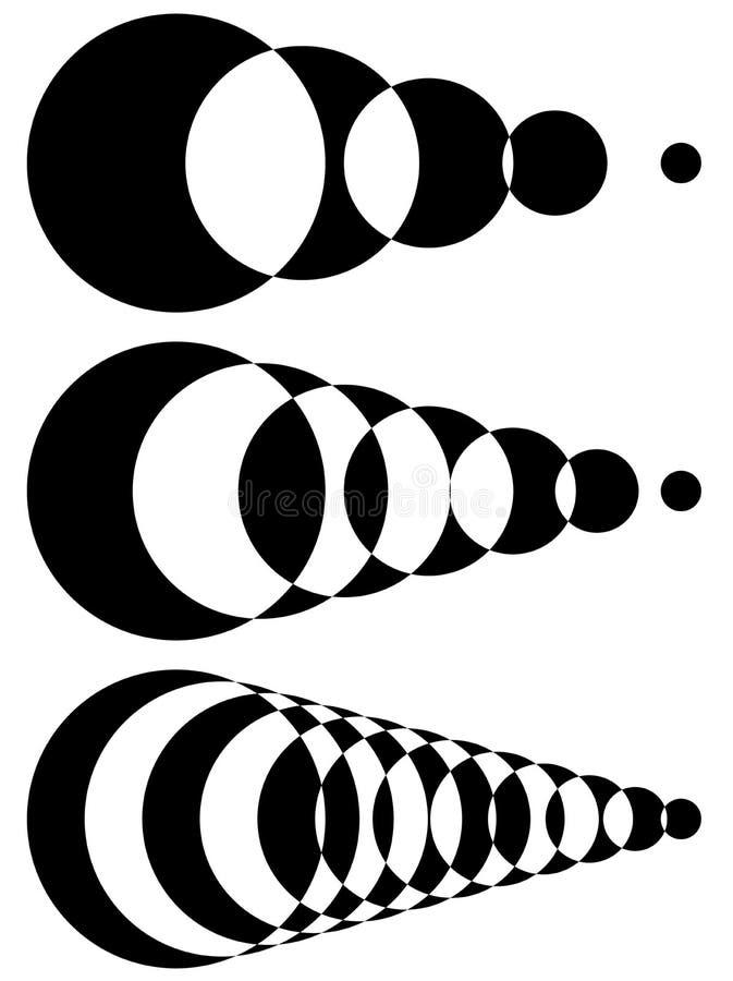 Formes de intersection Blended Ensemble d'intensité 3 Monoch abstrait illustration stock