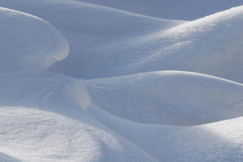 Formes de neige image stock