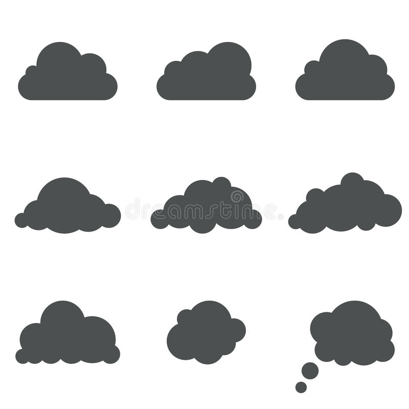 Formes de nuage illustration stock