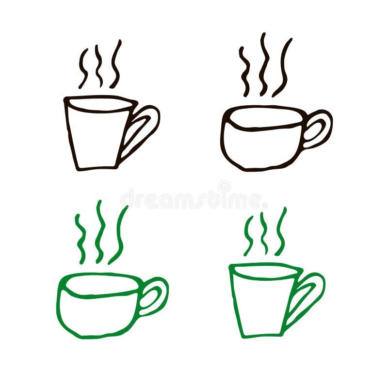 Formes de tasse de Coffe photos libres de droits