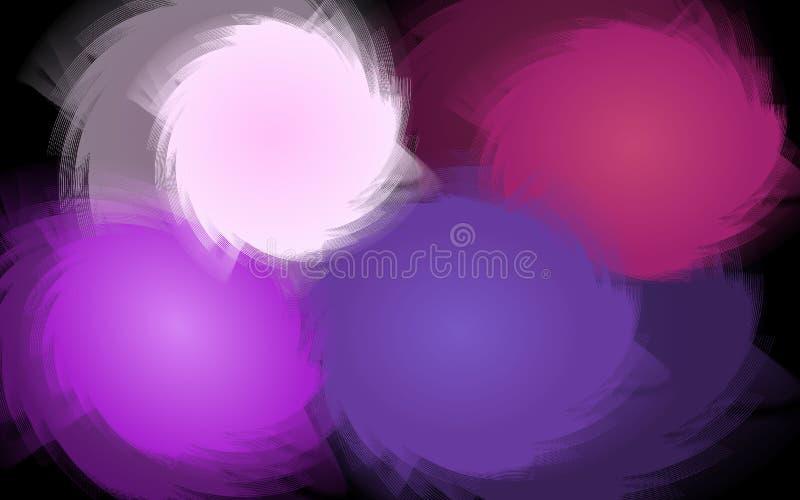 Formes de tournoiement colorées - papier peint graphique de Digital illustration stock