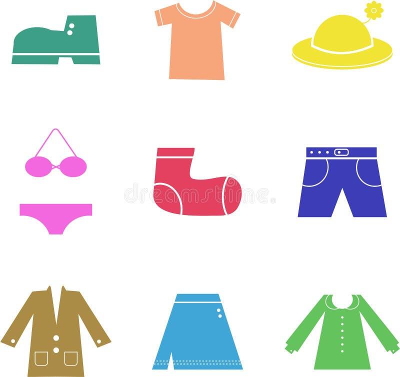 Formes de vêtement illustration stock