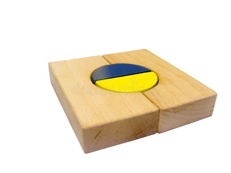 Formes en bois colorées de module  photos libres de droits