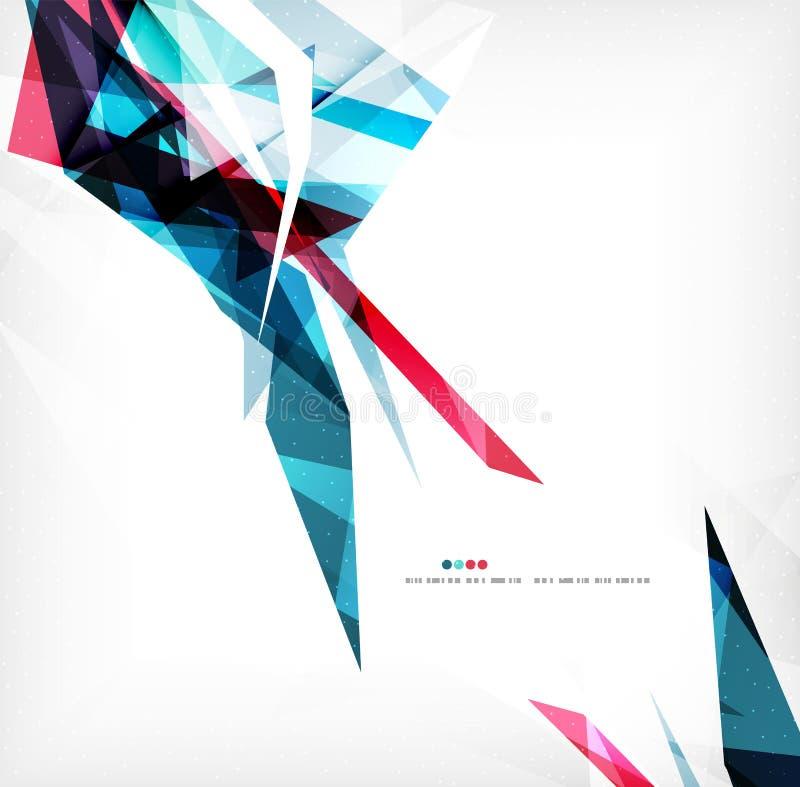 Formes géométriques angulaires de couleur illustration stock