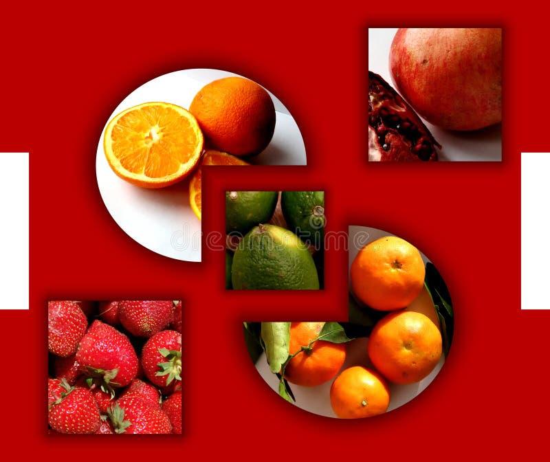Formes géométriques complètement des fruits photos libres de droits