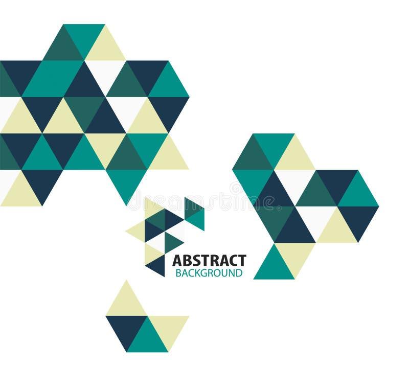 Formes géométriques de mosaïque abstraite d'isolement illustration stock