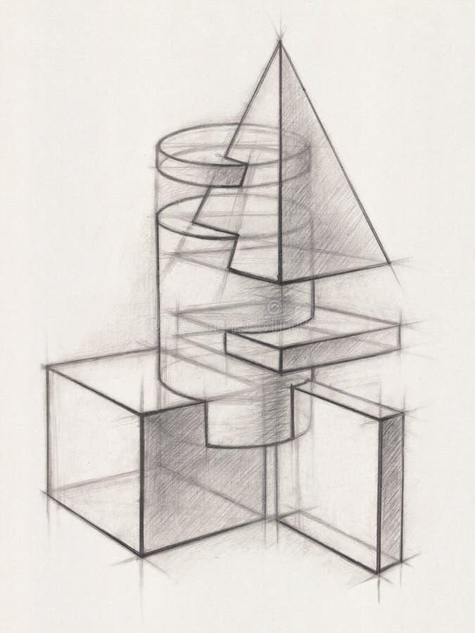 Formes géométriques solides photographie stock libre de droits