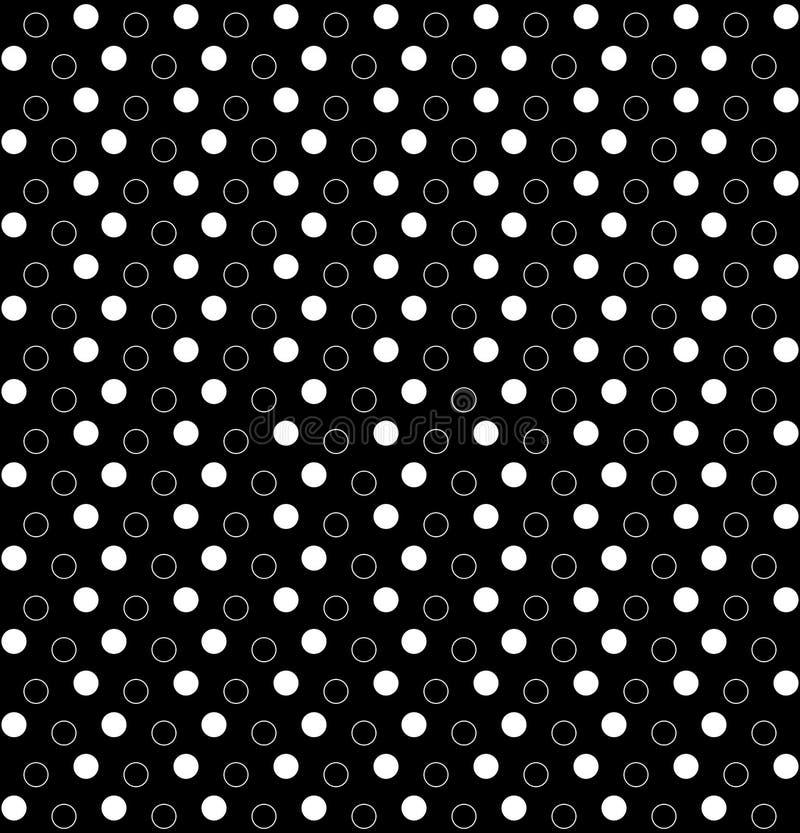 Formes g?om?triques de cercle Dirigez la configuration sans joint fond r?p?titif noir et blanc simple peinture de textile ?chanti illustration de vecteur