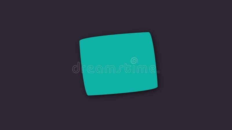 Formes g?om?triques plates - les pentagones color?s avec des ombres dans l'espace, 3d rendent, fond g?n?r? par ordinateur illustration libre de droits