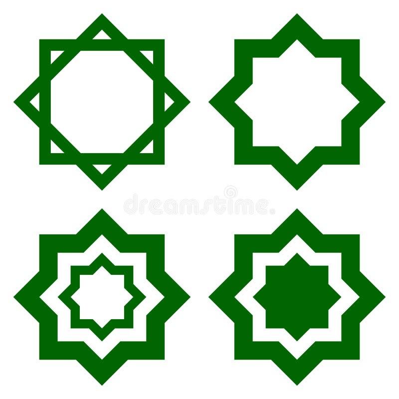 Formes octogonales géométriques illustration de vecteur