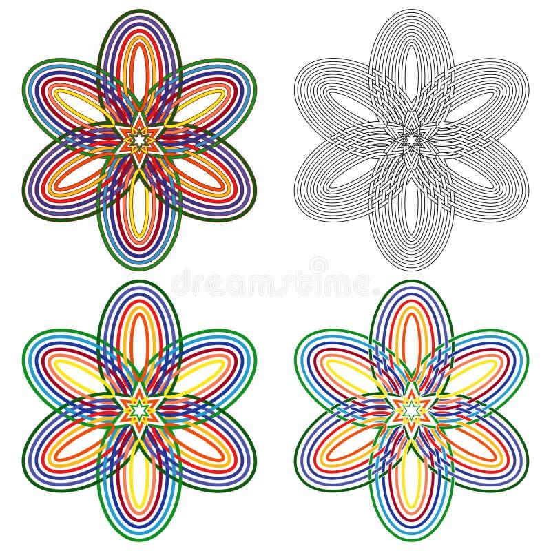 Formes ovales abstraites illustration de vecteur