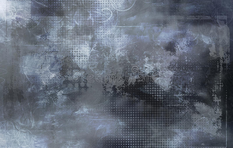 Formes, textures et modèle gris abstraits illustration stock