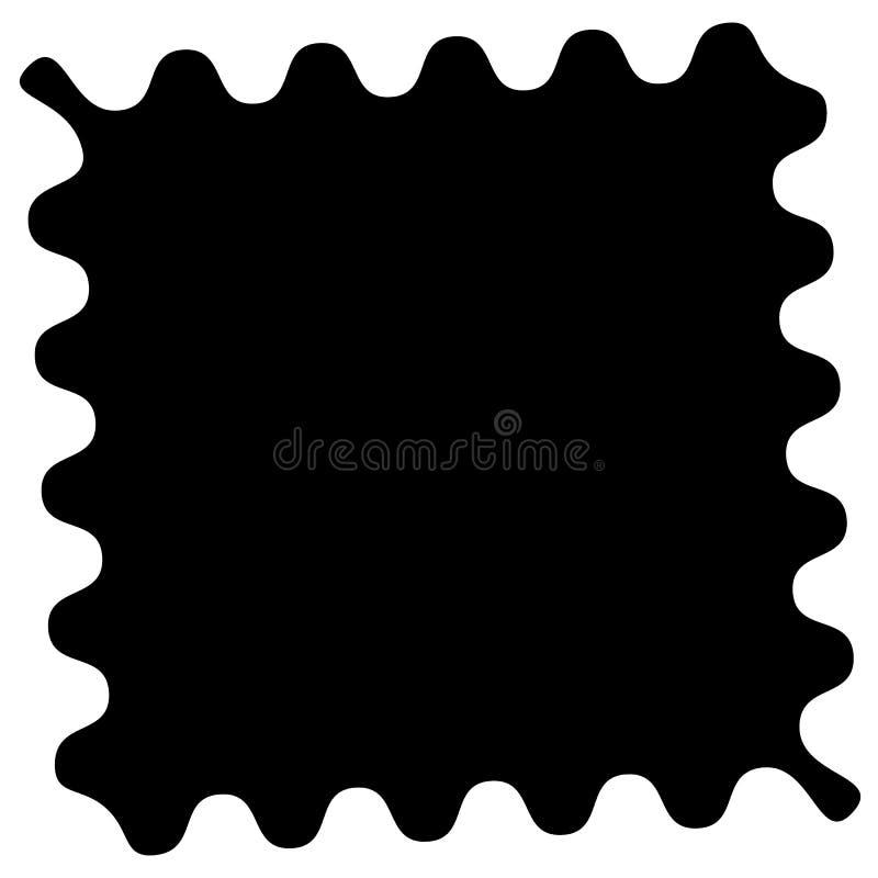 Formez avec onduleux, bords de zigzag pour couper des photos illustration stock