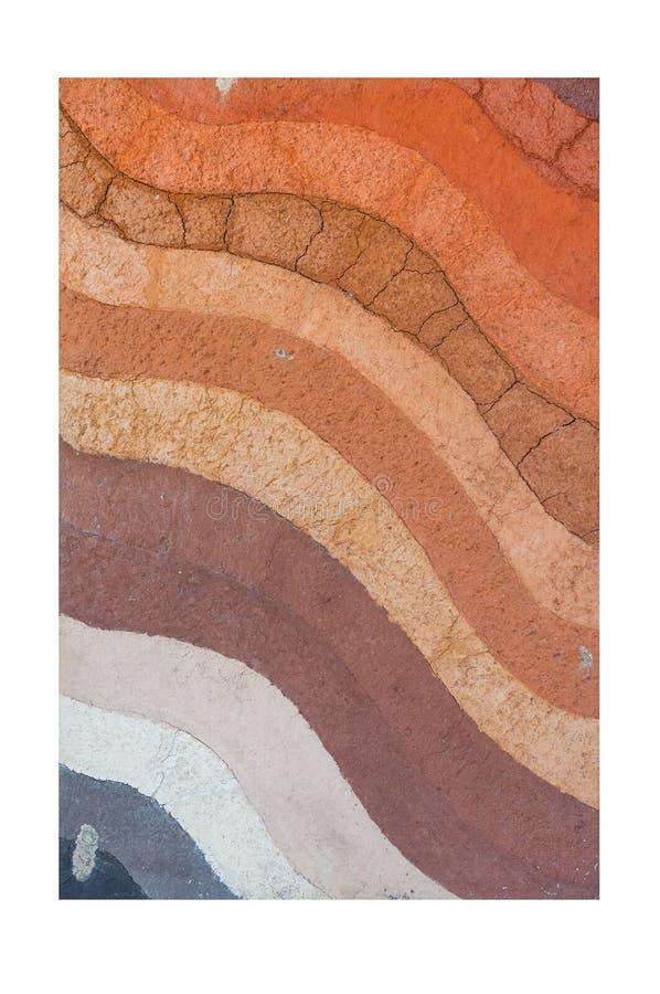 Formez des couches de sol, de sa couleur et des textures images stock