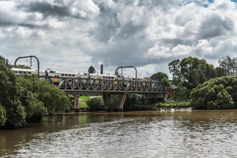 Formez le pont au-dessus de la rivière de Parrmatta, Australie de Parramatta photo stock