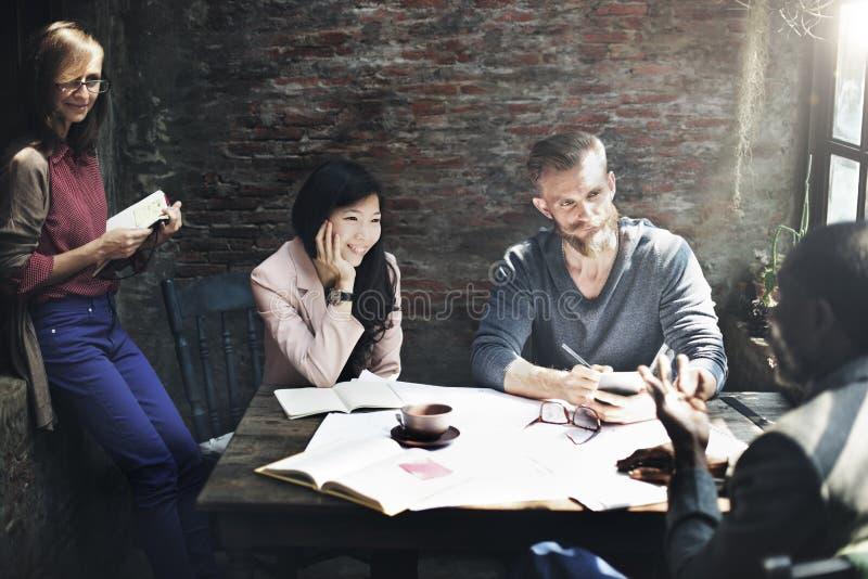 Formgivare för inre för affärsarkitektur Meeting Concept royaltyfri bild