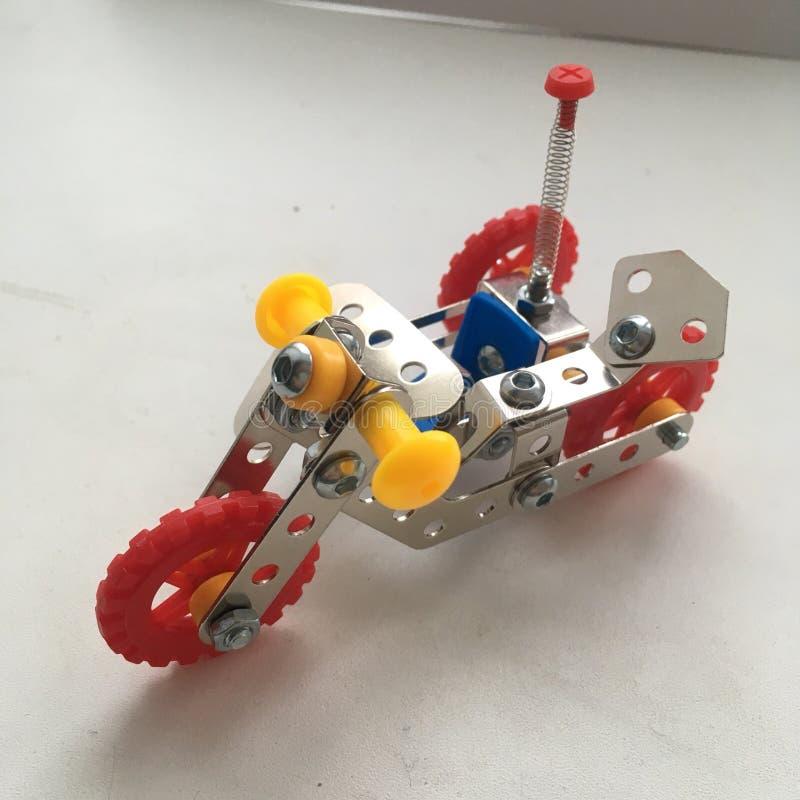 formgivare för motorcykelmetallleksak för barnmetall arkivbilder