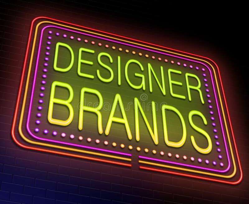 Formgivaren brännmärker begrepp stock illustrationer