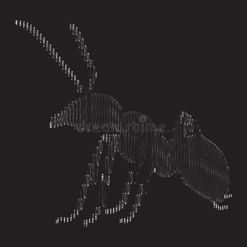 Formica delle particelle La formica consiste di piccoli cerchi royalty illustrazione gratis