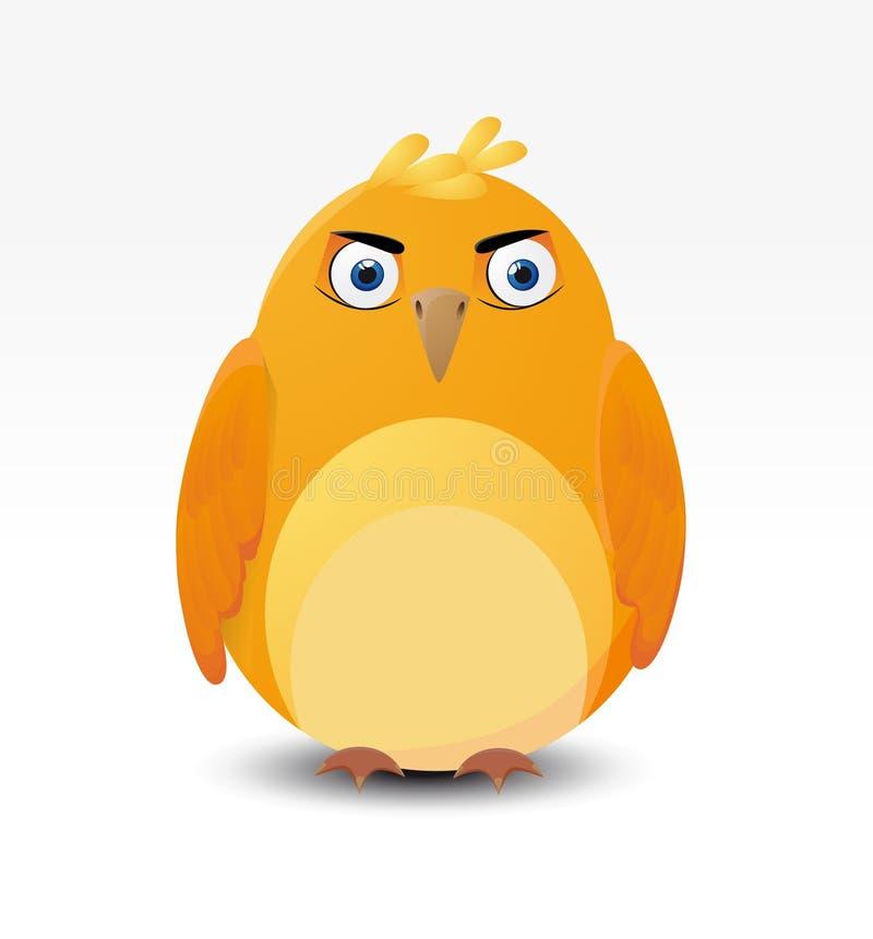 Formidabele vogel stock illustratie