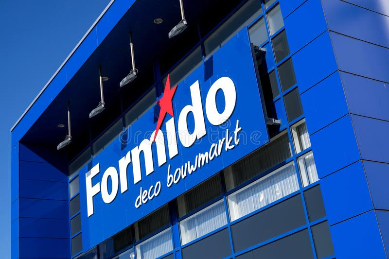 Formido logo at store. Formido is a Dutch hardware store-chain and a part of the of the franchise-organisation Maxeda stock images