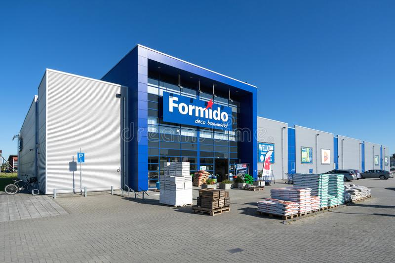 Formido store in Vierspolders, Netherlands. Formido is a Dutch hardware store-chain and a part of the of the franchise-organisation Maxeda royalty free stock photos