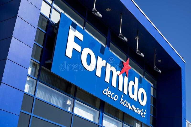 Formido logo at store. Formido is a Dutch hardware store-chain and a part of the of the franchise-organisation Maxeda royalty free stock photo