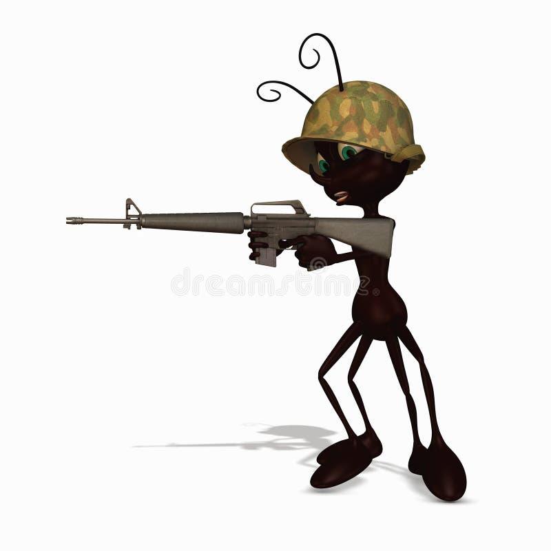 Formiga de exército 1 ilustração stock