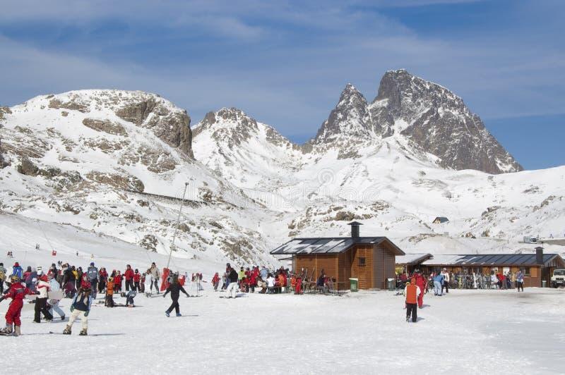 formigal huesca手段滑雪西班牙 免版税库存照片