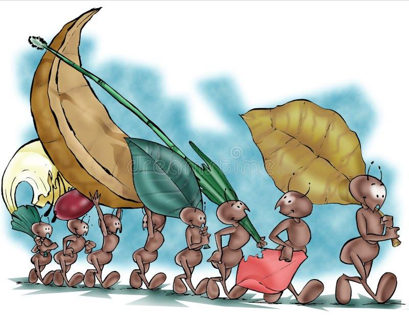 Formigas 01 ilustração do vetor