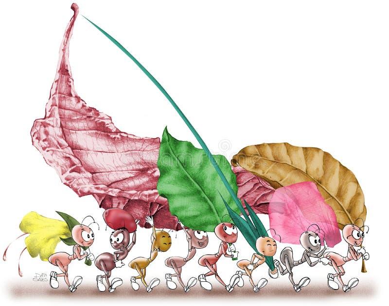 Formigas 02 ilustração stock