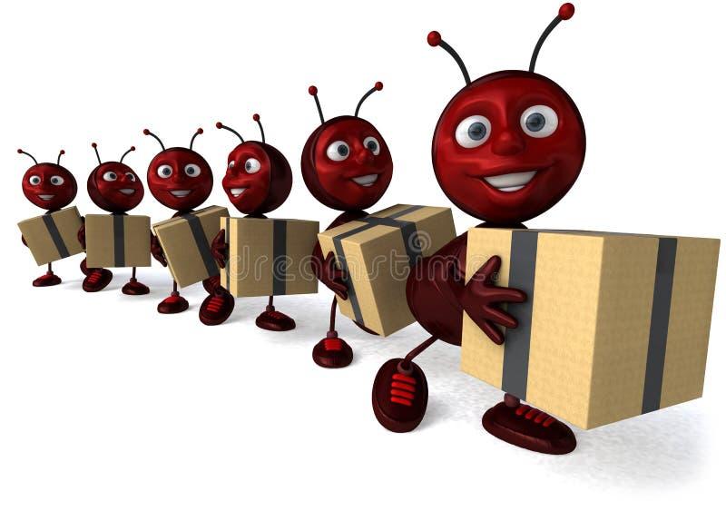 Formigas ilustração do vetor
