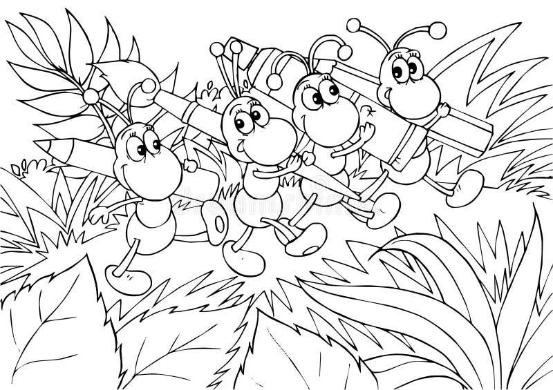 Formigas - artistas ilustração royalty free