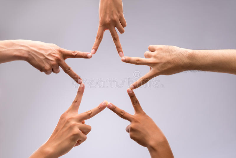 Forming star shape stock image