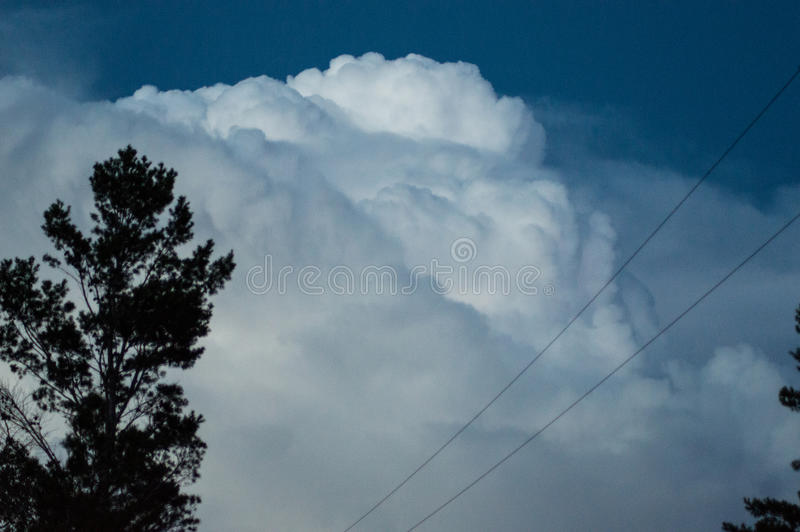 Forming storm. Clouds forming before the storm stock photos