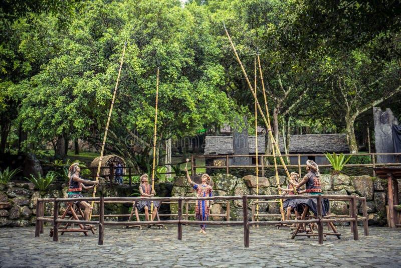 Formosan Tubylcza kultury wioska obraz stock