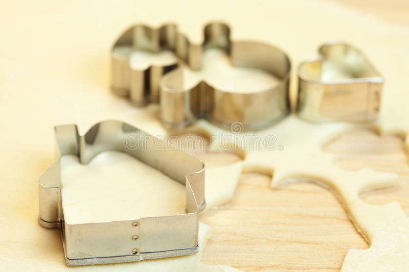 Download Forms For The Cookies, Rolling Pin And Dough Royalty Free Stock Images - Image: 17343309