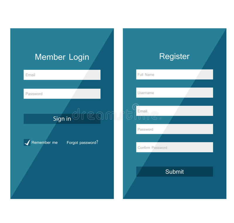 Forms login stock illustration