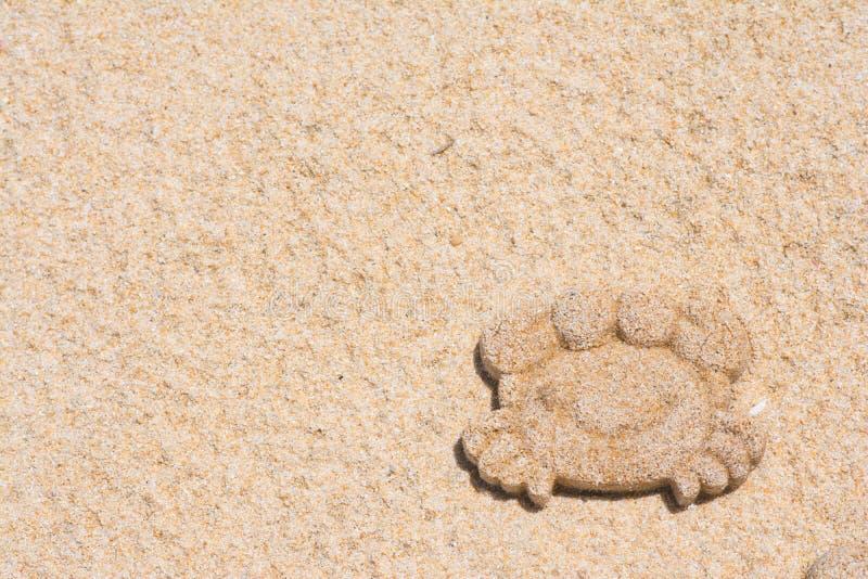 Formsand av krabban på stranden royaltyfria bilder