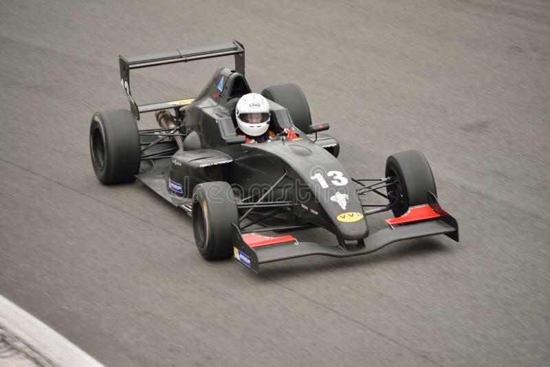 (0) formuł 2 Renault (0) samochodów testów przy Monza zdjęcie stock