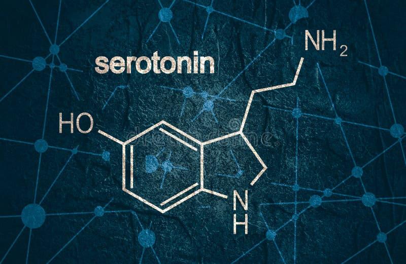 Formuła hormonu serotonin obraz royalty free