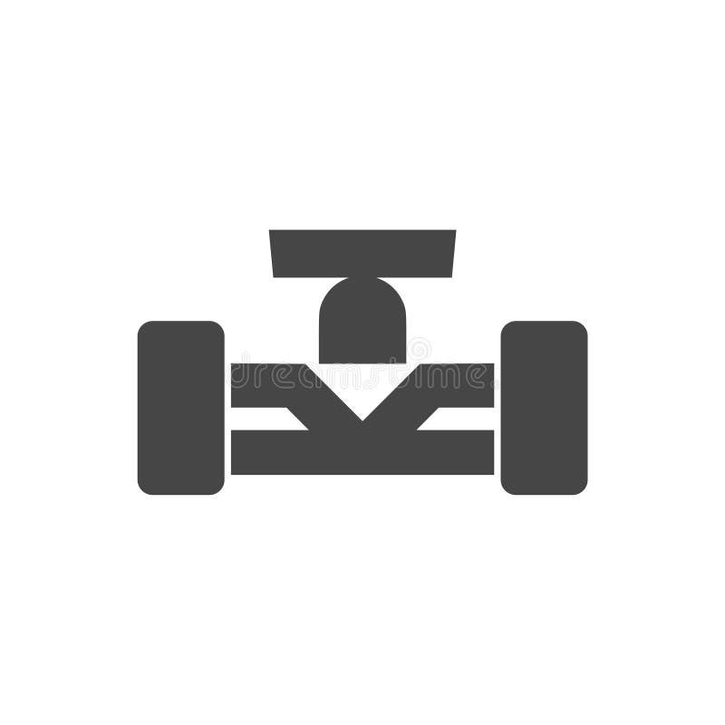 Formuła Jeden samochodu wyścigowego ikona ilustracji