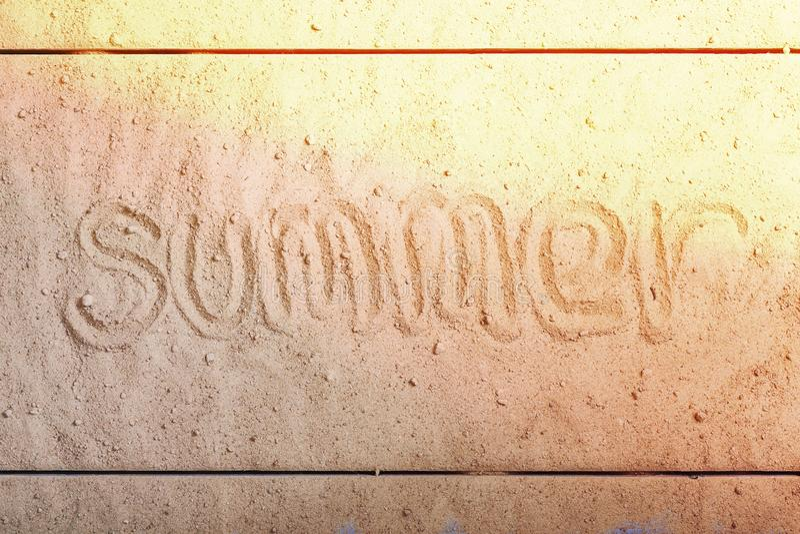 Formułuje lato, piaskowata plaża, urlopowy pojęcie, kopii przestrzeń zdjęcie stock